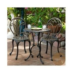 BISTRO SET PATIO Outdoor Furniture LAWN GARDEN Porch Chair Dining Table BACKYARD