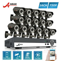 ANRAN AHD 16CH 720P Home Security System Zoom CCTV IR Camera 1080N DVR Outdoor