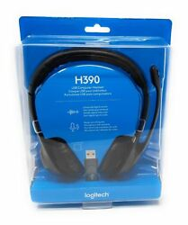 Logitech H390 Over-The-Head Design Clear Chat Comfort USB Headset 981-000014 NEW