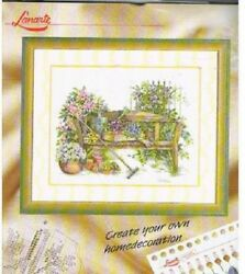 New Lanarte Cross Stitch kit 34388 Garden Bench  OOP rare Out of Print.
