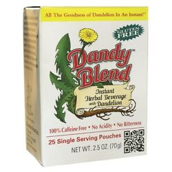 Dandy Blend Instant Herbal Beverage with Dandelion-Single Serve Pouches 25 Ct