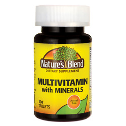 Nature#x27;s Blend Multi Vitamin with Minerals 100 Tabs $10.09