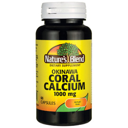 Nature#x27;s Blend Okinawa Coral Calcium 1000 mg 60 Caps $9.99