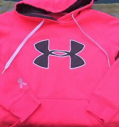 Women's- Breast Cancer UA Under armour Pink She A Fighter-XS XSmall-Hoodie-EC