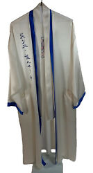 Gianni Versace Intimo SILK Pajama SET with Robe HAND EMBROIDERED Great Orig Own