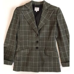 Armani Collezioni Lana Wool 3 button green grey jacket size 4 excellent Used