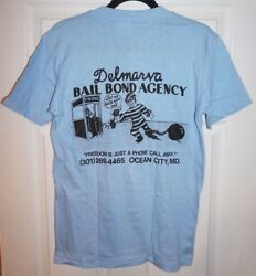 Vintage Delmarva Bail Bond Agency Ocean City MD T Shirt Unisex Medium 9 Colors $10.00