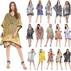 Plus Size Tunic Tops beachwear Caftan short beach cover-Up Boho tunics for Women $9.99
