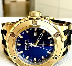 INVICTA RESERVE GMT RADIANT BLUE DIAL 18K GOLD PLATED STAINLESS STEEL  $199.00