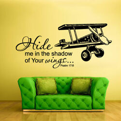Wall Vinyl Sticker Bedroom Words Sign Quote Wings Airplane Aircraft Z937 $26.09