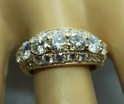 Amazing Engagement Diamond Ring  2.71ct Total Carat Weight F VVS. 18ct Gold