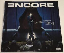 EMINEM SLIM SHADY MARSHALL MATHERS SIGNED ENCORE VINYL LP ALBUM AUTOGRAPH COA