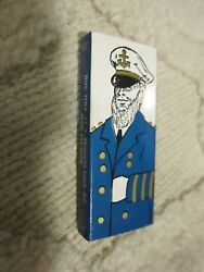 Vintage boxed wooden matches from The Captain's Restaurant Murrells Inlet SC