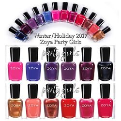 Zoya Party Girls Winter Holiday 2017 Collection Nail Polish Choose Your Colors $8.00