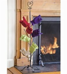 Dry your gloves and mittens next to your fireplace or woodstove