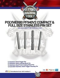 Polymer80 Stainless Steel Pin Set for Pf940v2 Fullsize amp; Compact Glock 4pc $7.00