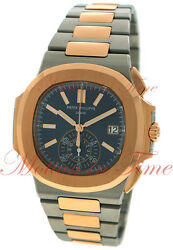 Patek Philippe 59801AR-001 Nautilus Chronograph Stainless Steel Rose Gold Watch