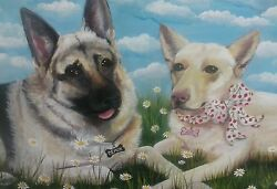 Custom Portrait of your Pet ON CANVAS ..Any size Dog Cat Goat reptile etc $80.00