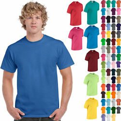 Gildan Plain Cotton T Shirt Short Sleeve Solid Blank Design Tee Men Tshirt S 5XL $5.59