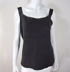Loose Threads By Virgina Moreno Silk Cashmere Sleeveless Blouse Size M Brown