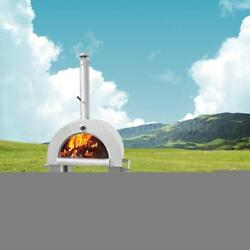 Pizza Oven BBQ Grill Wood Burning Heater Outdoor Patio New 1 Year Warranty V9S1