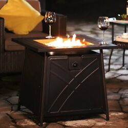 Propane Gas Fire Table Bowl Cover Pit Outdoor Fireplace Gas Heater Patio Bali