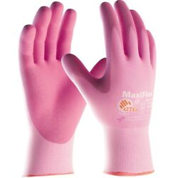 MaxiFlex Active Nitrile Coated Nylon Lycra Work Gloves Pink $8.09