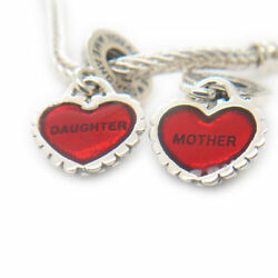 Authentic Piece Of My Heart Mother Daughter Silver Dangle Charm for Breacelet