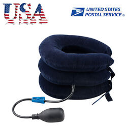 Cervical Collar Neck Relief Traction Brace Support Stretcher Inflatable Comfort $9.48