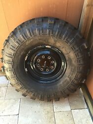 Hummer H1 Run flat rims with Super Swamper tires REDUCED