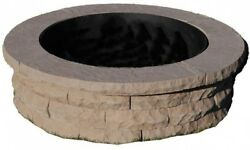 47in Concrete Fire Pit Easy Assemble 3 Sand Bags Steel Ring Insert Included Warm