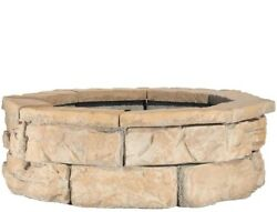 Fossill Brown 30 in Fire Pit Kit Wide Bowl Sturdy Construction 2 PCS Steel Ring