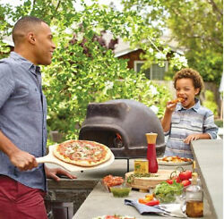 Outdoor Pizza Oven Wood Fired Clay Brick Terracotta Table Counter Top Burning