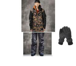 D200 Men Ski Snow Snowboard Winter Waterproof Jacket+Pants+Gloves S M L XL XXL