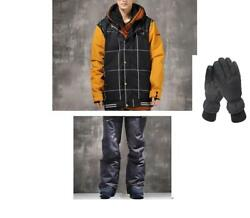 D204 Men Ski Snow Snowboard Winter Waterproof Jacket+Pants+Gloves S M L XL XXL