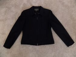 Womens Gently Used Black 100% Wool Jacket by Express size 910