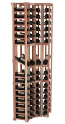 60 Bottle 4 Column Display Corner Wine Cellar Rack Kit in Redwood. Made in USA.