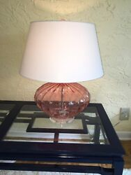 TABLE LAMP large funky pink shade included $80.00