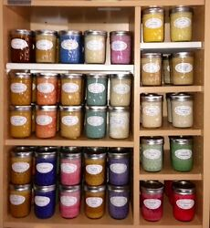 $SAVE$ Lot of 2 ~ Assorted Aromatherapy Scents ~ Soy Wax Candles ~ 8oz Jelly Jar $19.95