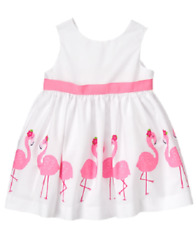 Gymboree Tropical Pink Flamingo Dress Baby Girl 3-6 Months NEW