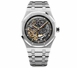 Audemars Piguet Royal Oak 41mm Skeleton Openwork Stainless 15407ST.OO.1220ST.01