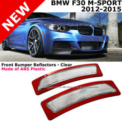 For 13-15 BMW F30 F31 3-Series W Sport Package Crystal Clear Side Marker Lights