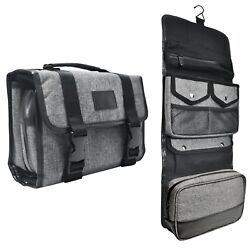 Hanging Toiletry Bag By Tailored Supply Travel Kit Organizer Case with Removable