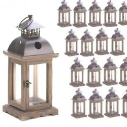 Lot of 40 Rustic Wood Candle Lantern Candleholder Wedding Centerpieces