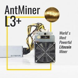 Genuine Bitmain Antminer L3+ with APW3++ Power Supply - READY TO SHIP!