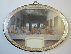 The Last Supper Icon Picture on Wood Oval 5 34