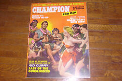 vintage CHAMPION FOR MEN magazine NOVEMBER 1959 correa gorenson prezio $25.00