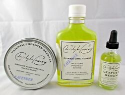 Christophe Pourny Leather FURNITURE Care Products TONIC  SERUM  WAX USA Made
