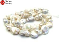 8*15mm White Baroque Natural Pearl Loose Beads for Jewelry Making Strand 14