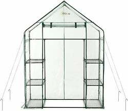 Mini Walk-In Greenhouse 3-Tier 6-Shelf Portable Clear Cover Plant Garden Shade